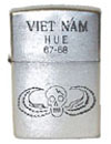 Vietnam Zippo Chrom