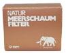 Natur Meerschaum-Filter 9 mm 40 Stück